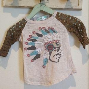 Southern Grace Burnout T-shirt Native American 4-6